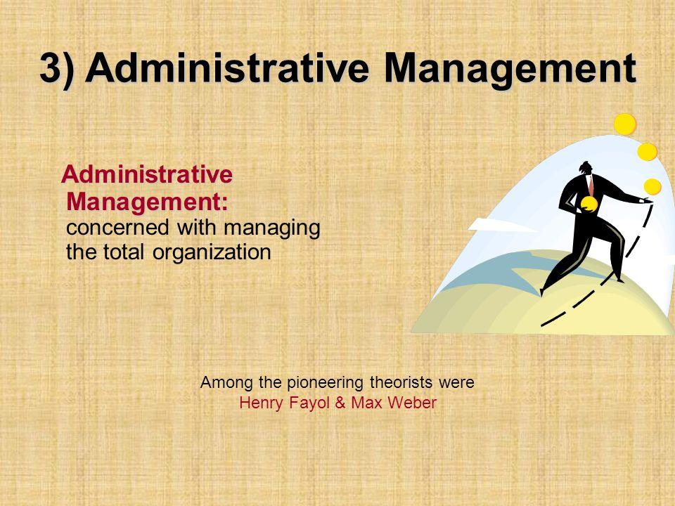 3) Administrative Management