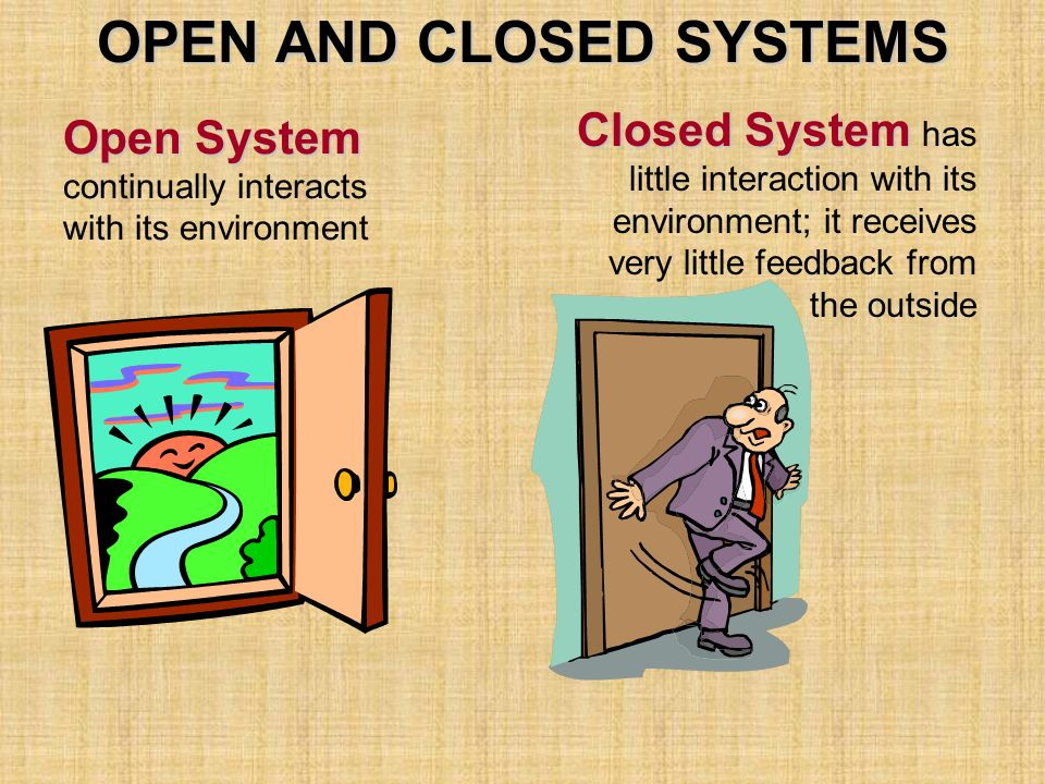 Open and Closed Systems
