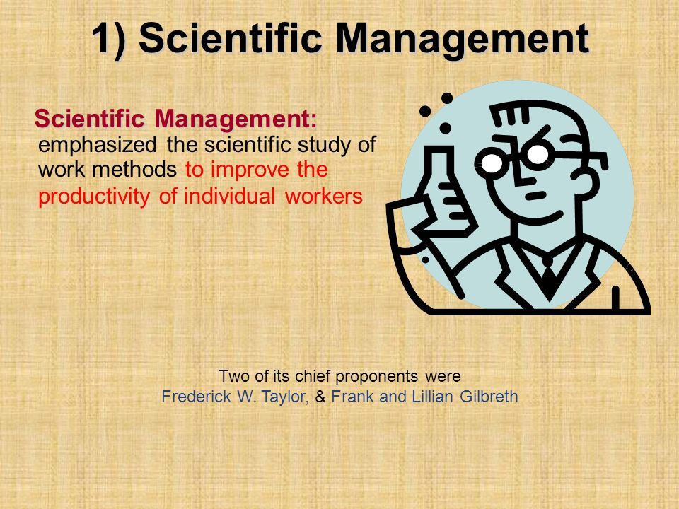 1) Scientific Management