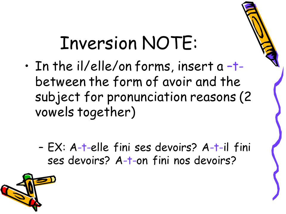 Pass compos avoir ppt download for Elle pronunciation