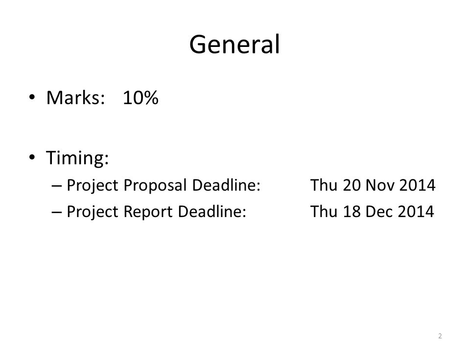 Project Proposal Report