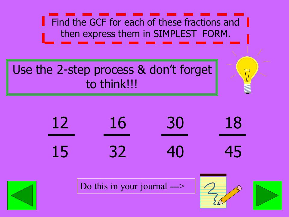 Greatest Common Factor & Simplest Form - ppt video online download