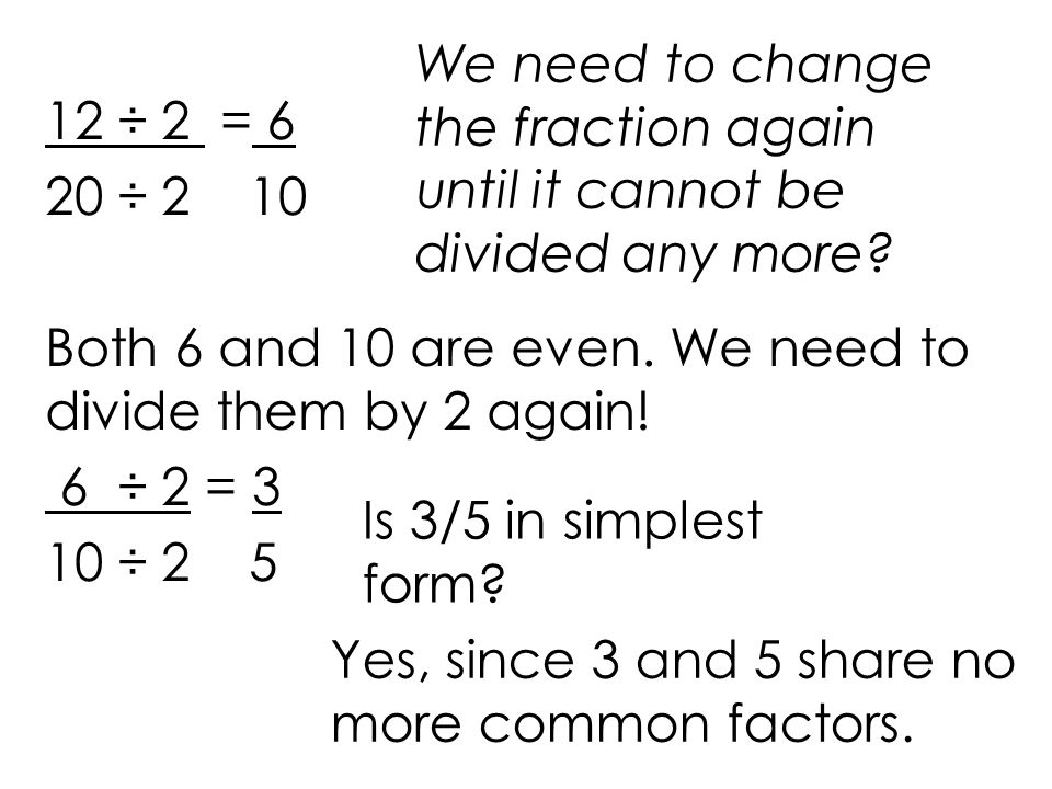 Math 5 Simplifying Fractions - ppt video online download