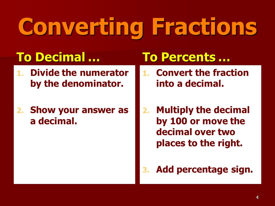 Objective Explain The Numerical Relationships Between