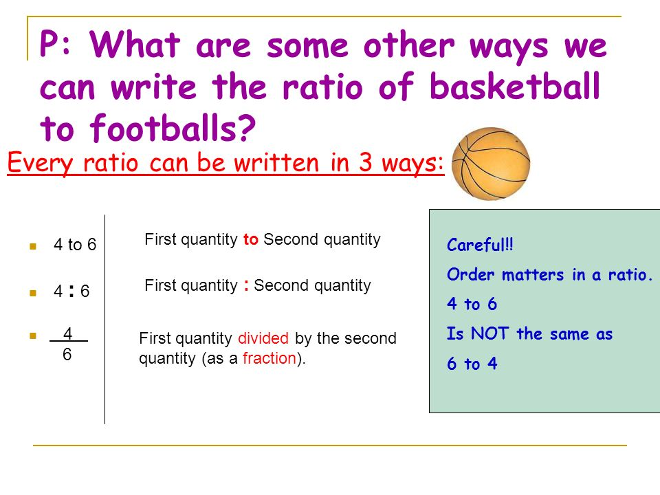 3 ways to write a ratio