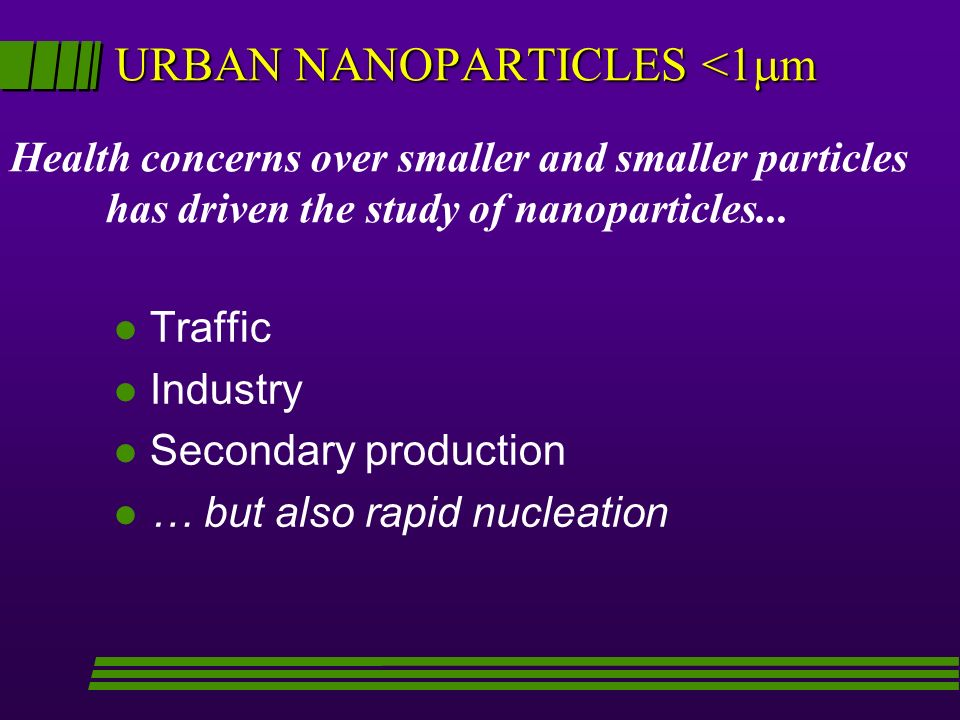 URBAN NANOPARTICLES <1m