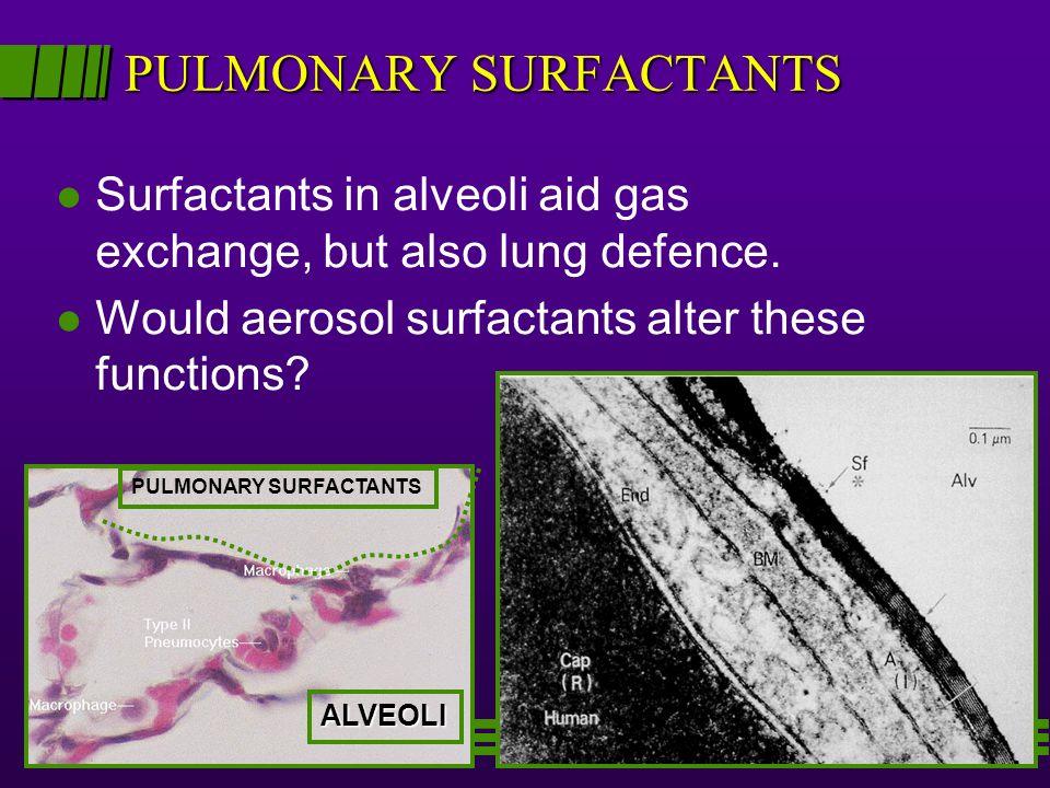 PULMONARY SURFACTANTS