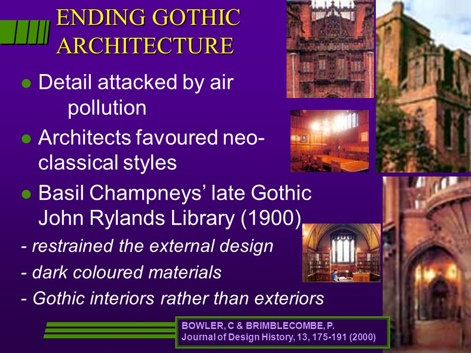 ENDING GOTHIC ARCHITECTURE