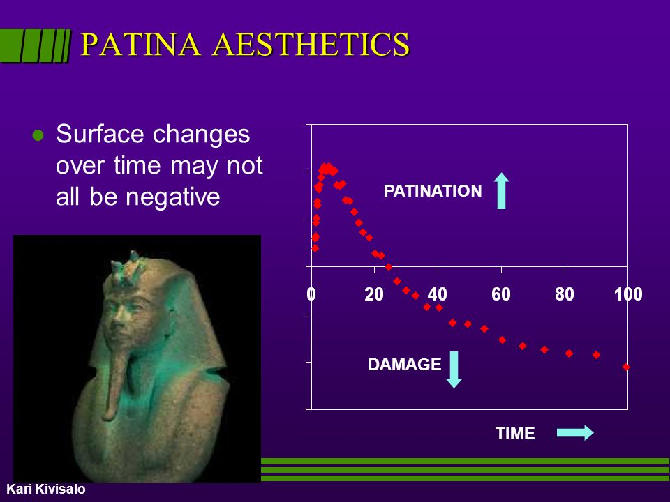 PATINA AESTHETICS Surface changes over time may not all be negative