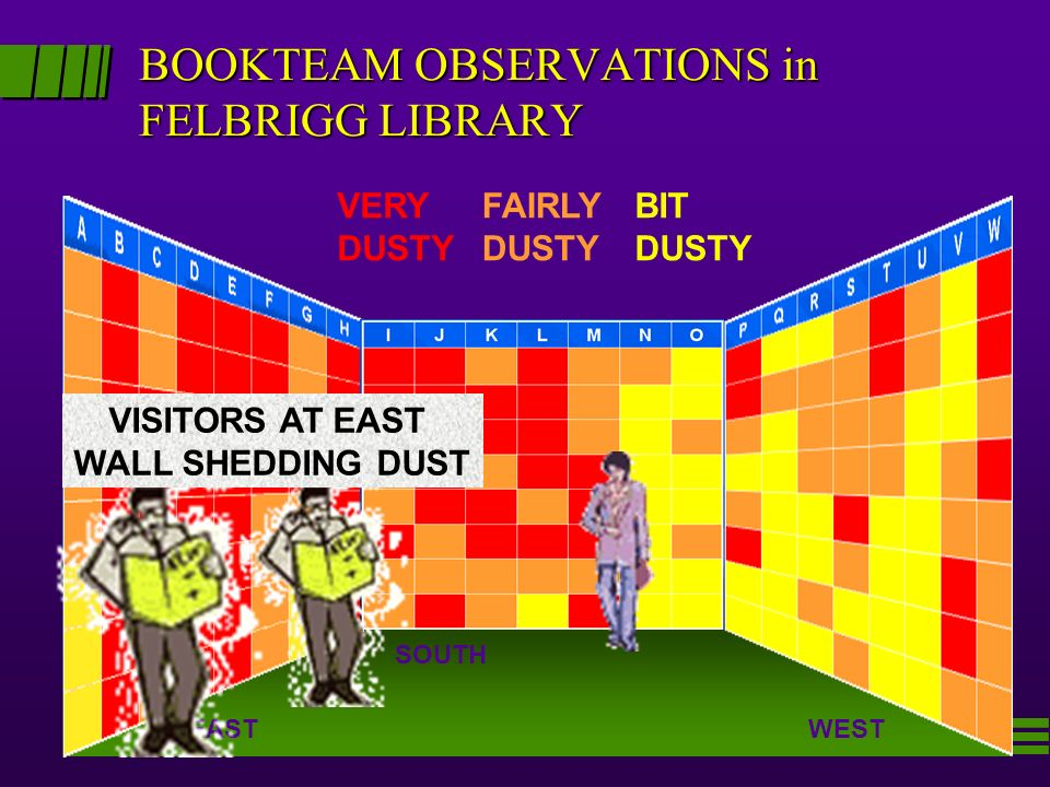 BOOKTEAM OBSERVATIONS in FELBRIGG LIBRARY
