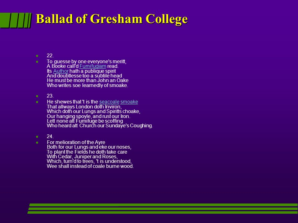 Ballad of Gresham College