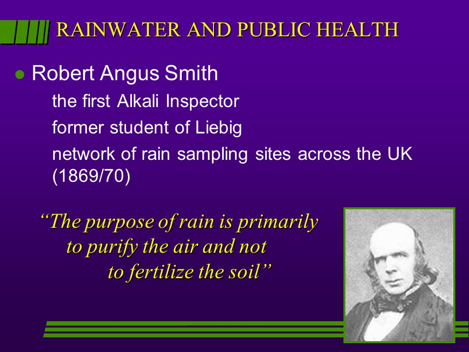RAINWATER AND PUBLIC HEALTH