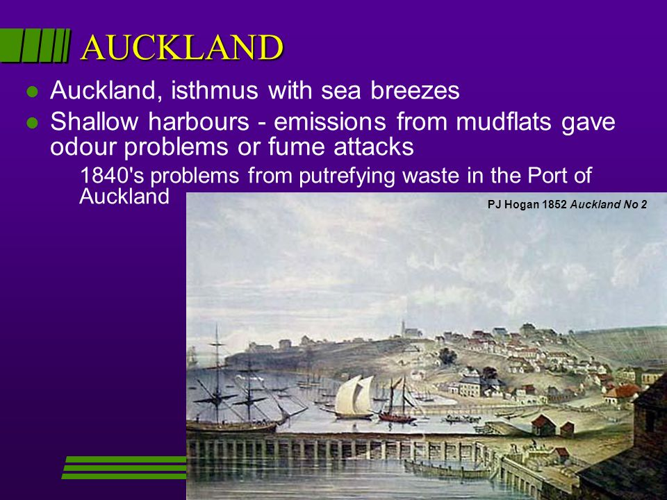 AUCKLAND Auckland, isthmus with sea breezes