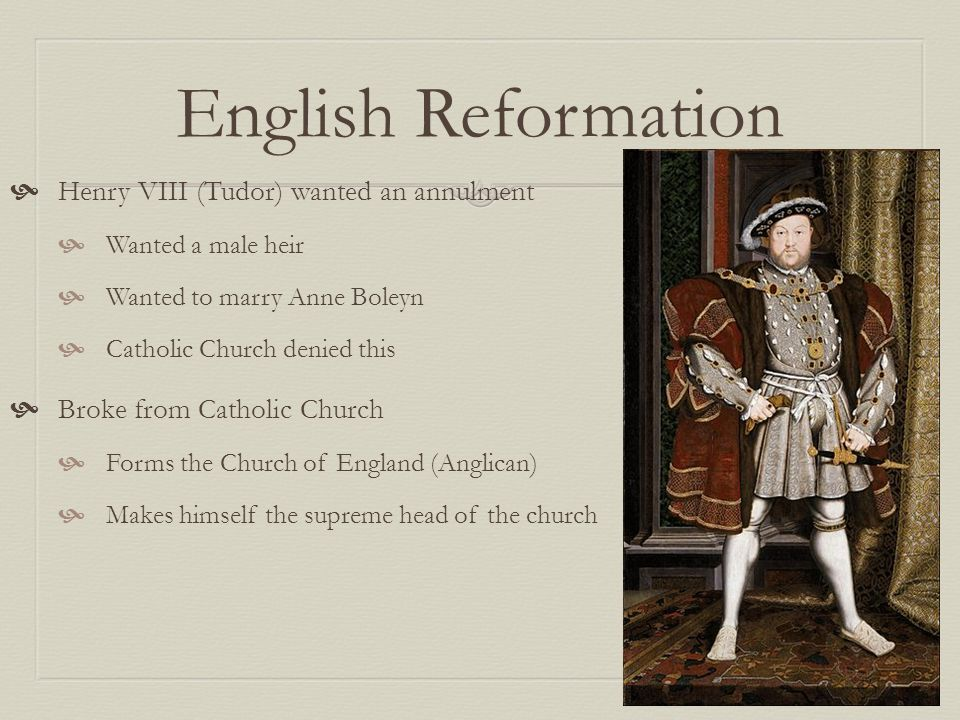 king henry vii and the reformation Henry viii and the reformation the dissolution of the monasteries from about the 5th century onwards, monasticism had been an important part of christianity.