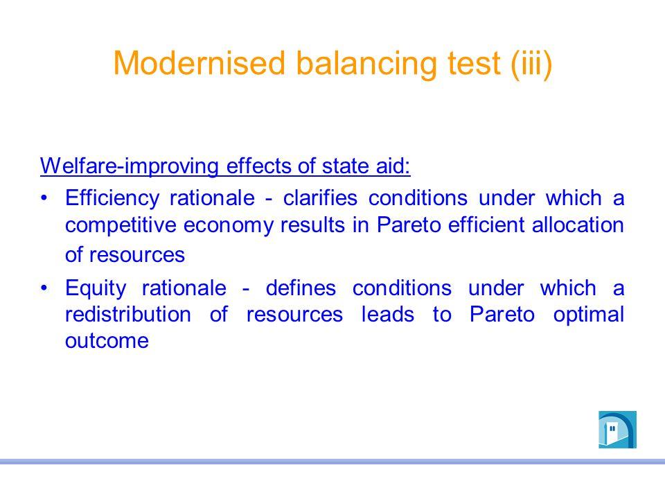 Modernised balancing test (iii)