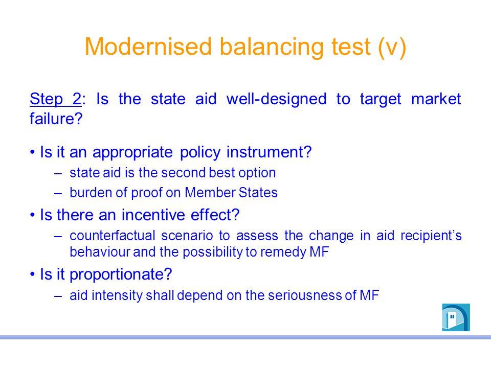 Modernised balancing test (v)