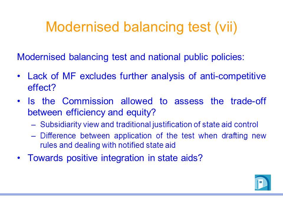 Modernised balancing test (vii)