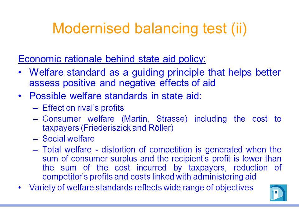 Modernised balancing test (ii)