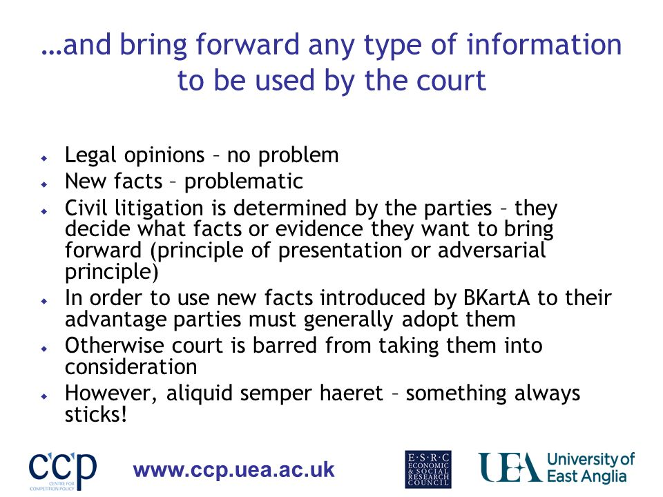 …and bring forward any type of information to be used by the court