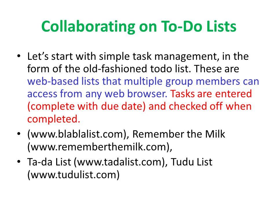 group to do lists