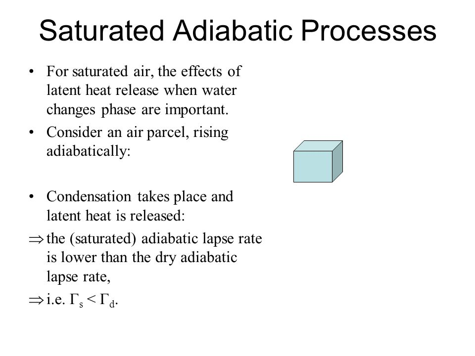 Saturated Adiabatic Processes