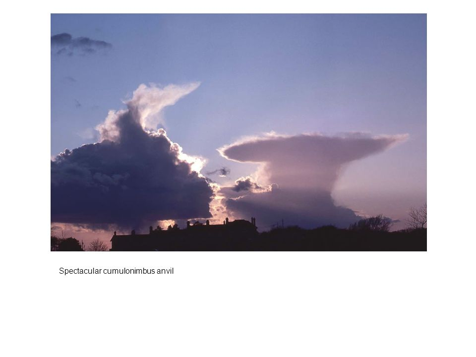 Spectacular cumulonimbus anvil