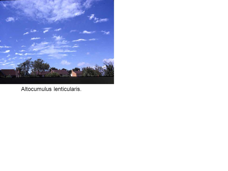 Altocumulus lenticularis.