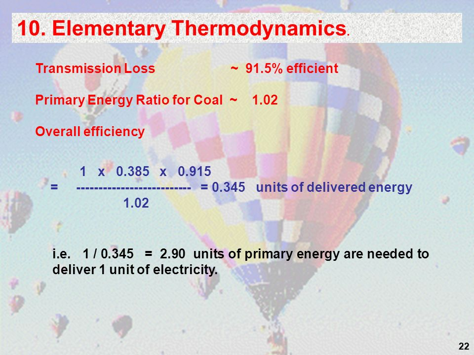 10. Elementary Thermodynamics.