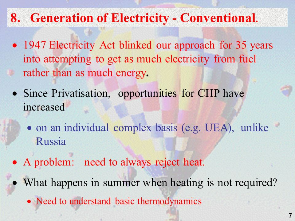 8. Generation of Electricity - Conventional.