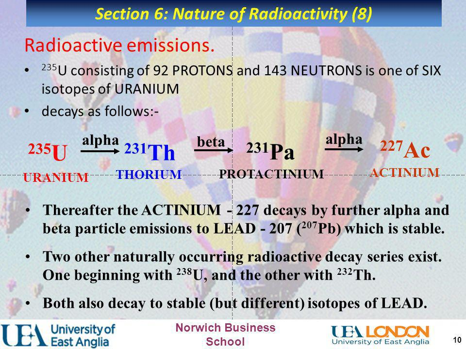 Section 6: Nature of Radioactivity (8)