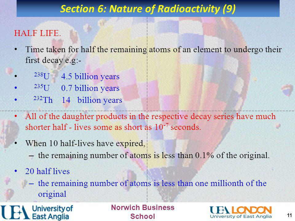 Section 6: Nature of Radioactivity (9)