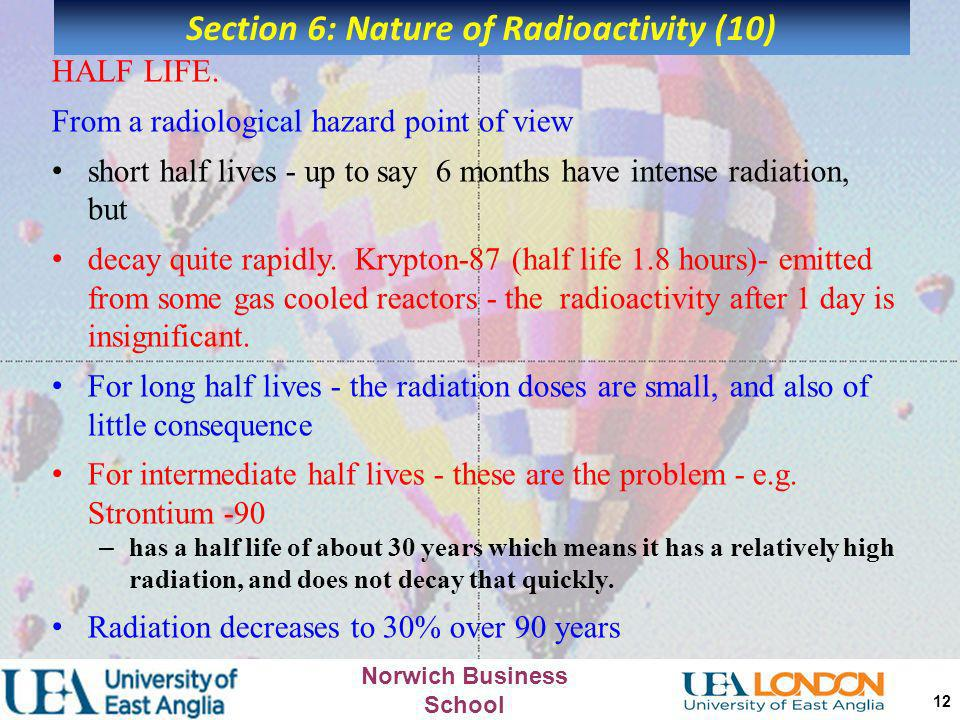 Section 6: Nature of Radioactivity (10)
