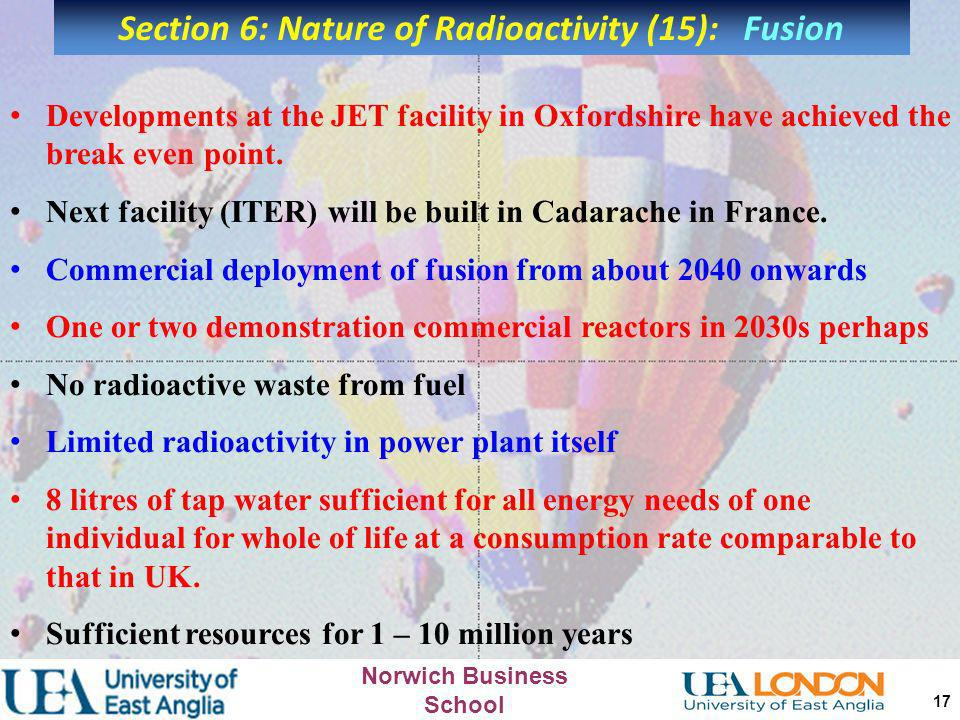 Section 6: Nature of Radioactivity (15): Fusion