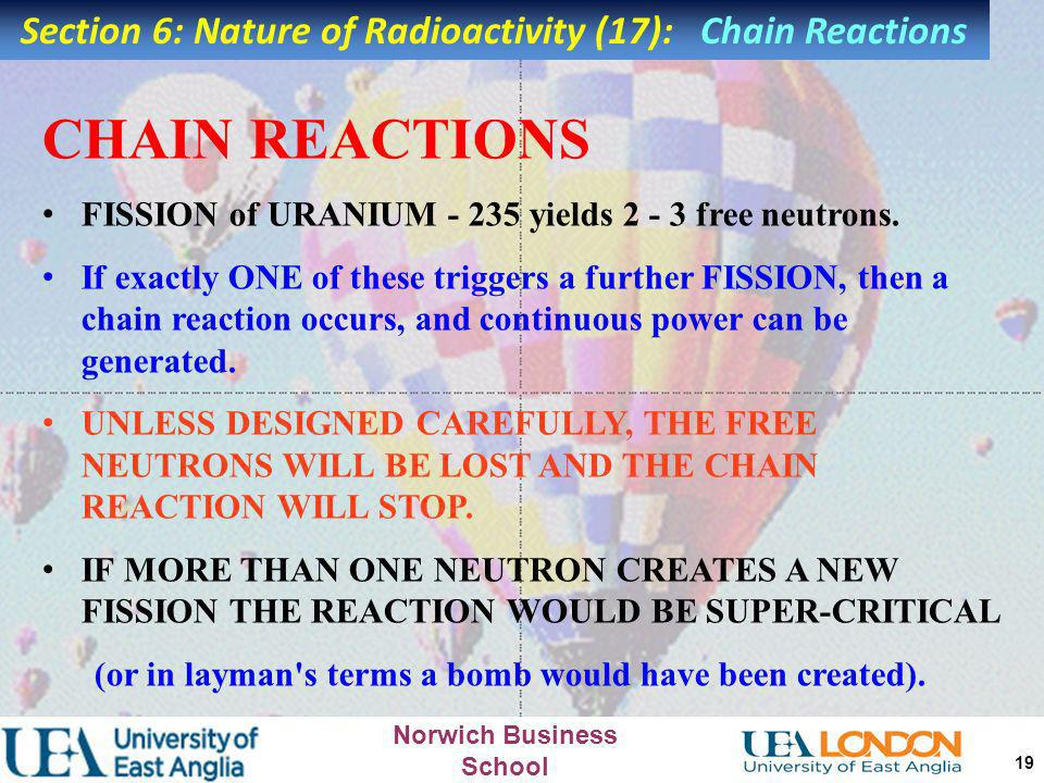 Section 6: Nature of Radioactivity (17): Chain Reactions