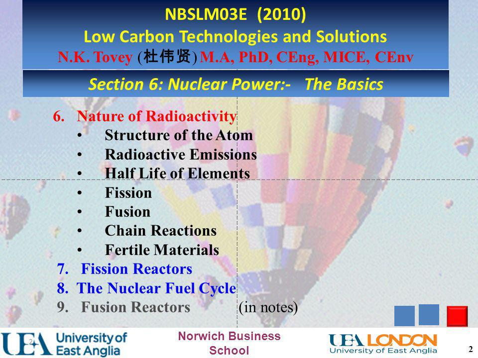 Low Carbon Technologies and Solutions