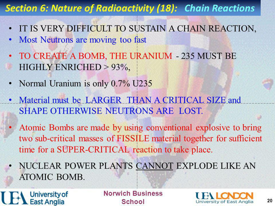 Section 6: Nature of Radioactivity (18): Chain Reactions