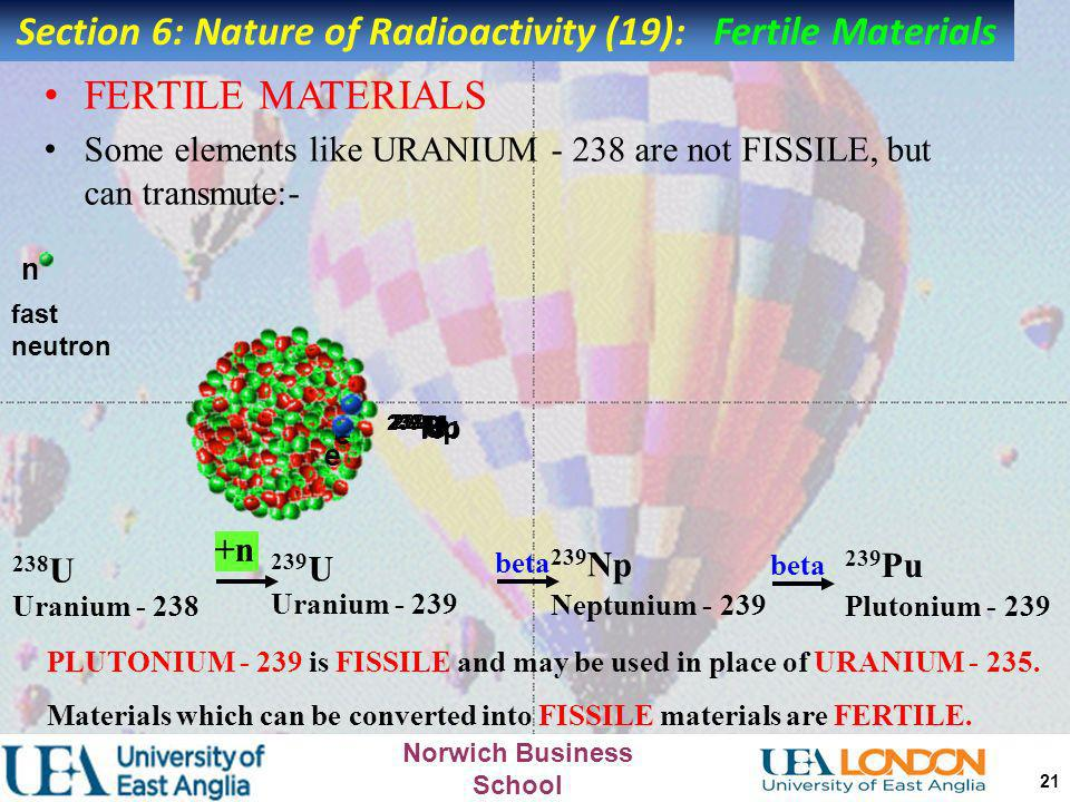 Section 6: Nature of Radioactivity (19): Fertile Materials