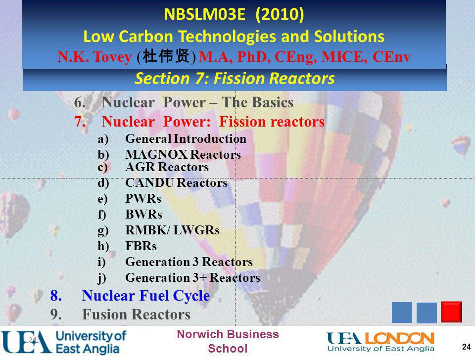 Low Carbon Technologies and Solutions Section 7: Fission Reactors