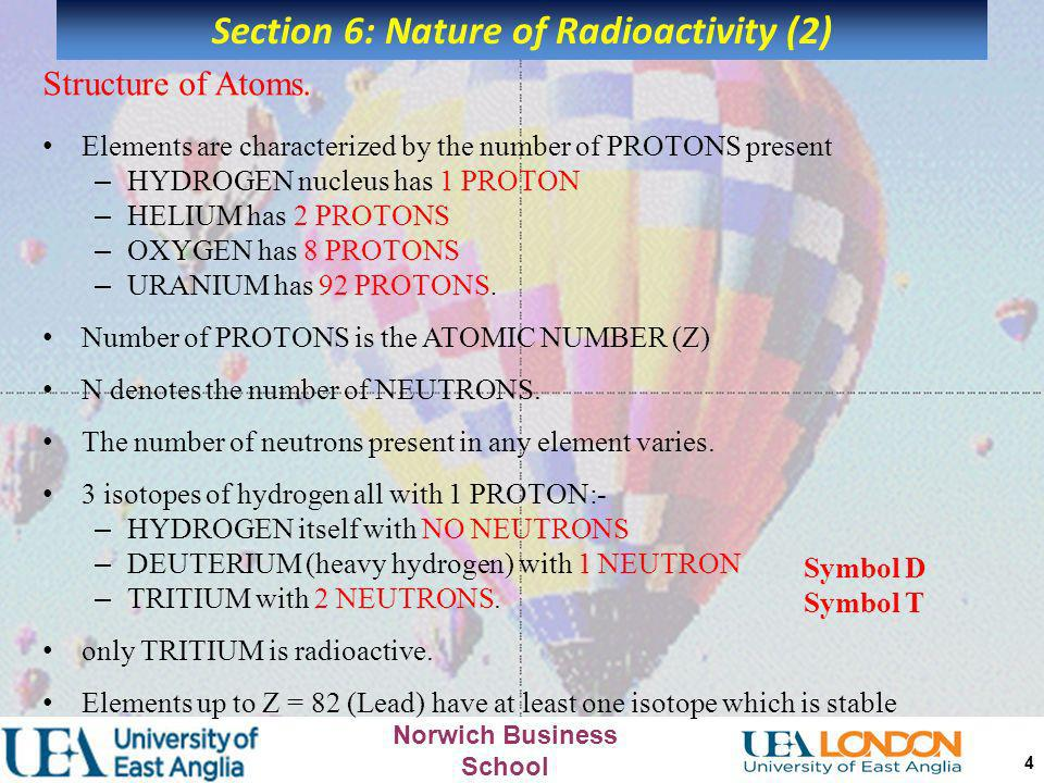 Section 6: Nature of Radioactivity (2)