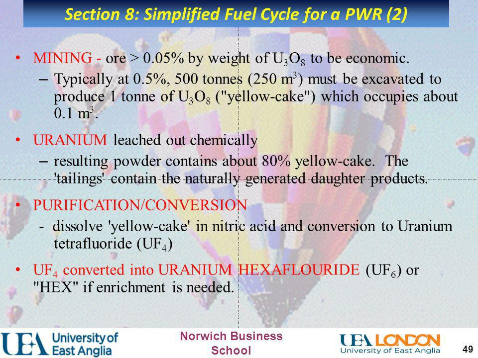 Section 8: Simplified Fuel Cycle for a PWR (2)