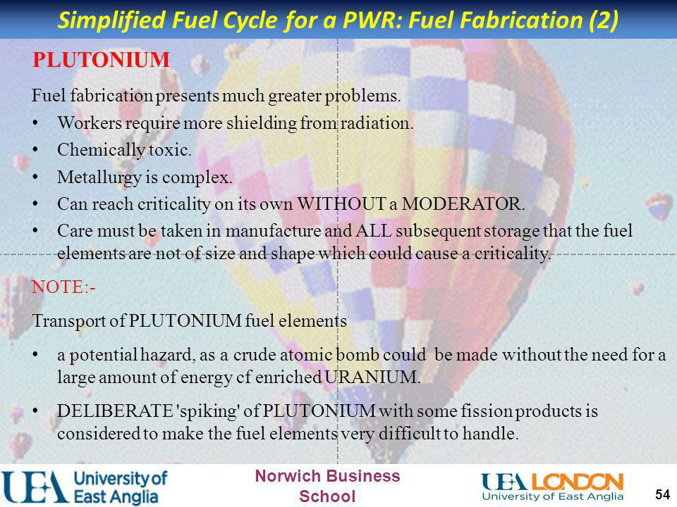 Simplified Fuel Cycle for a PWR: Fuel Fabrication (2)