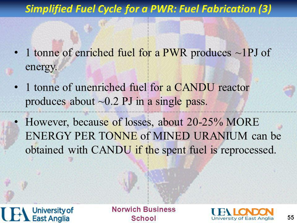Simplified Fuel Cycle for a PWR: Fuel Fabrication (3)