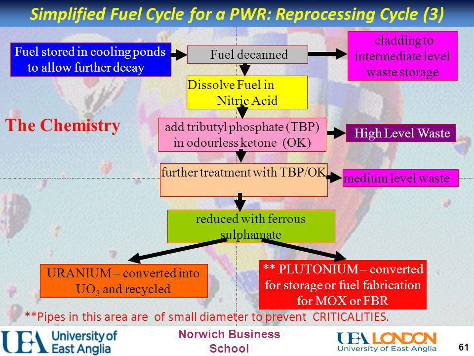 Simplified Fuel Cycle for a PWR: Reprocessing Cycle (3)