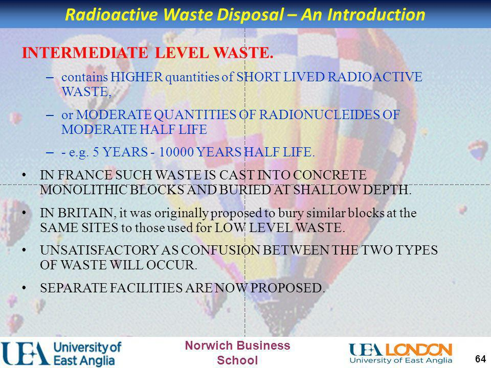 Radioactive Waste Disposal – An Introduction