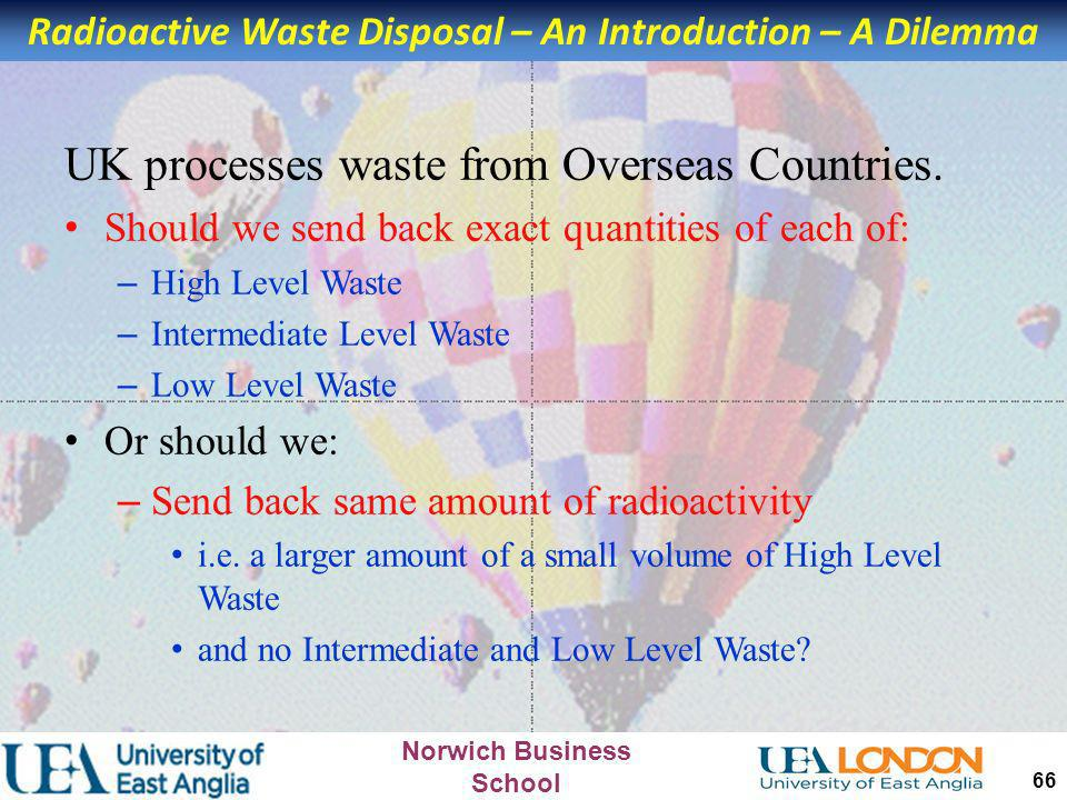 Radioactive Waste Disposal – An Introduction – A Dilemma