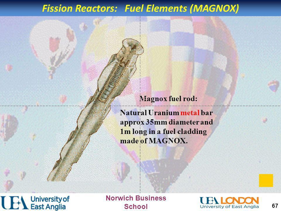 Fission Reactors: Fuel Elements (MAGNOX)