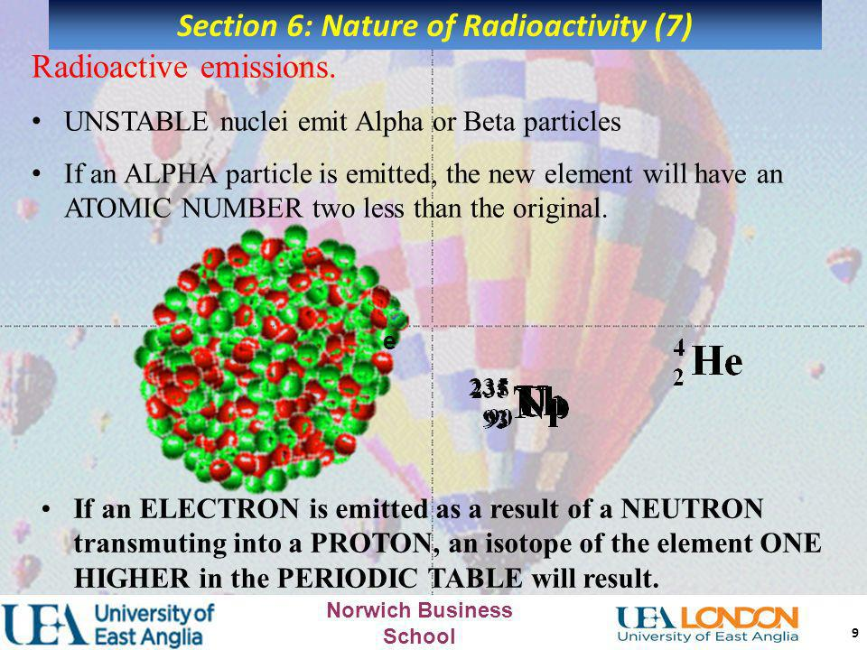 Section 6: Nature of Radioactivity (7)
