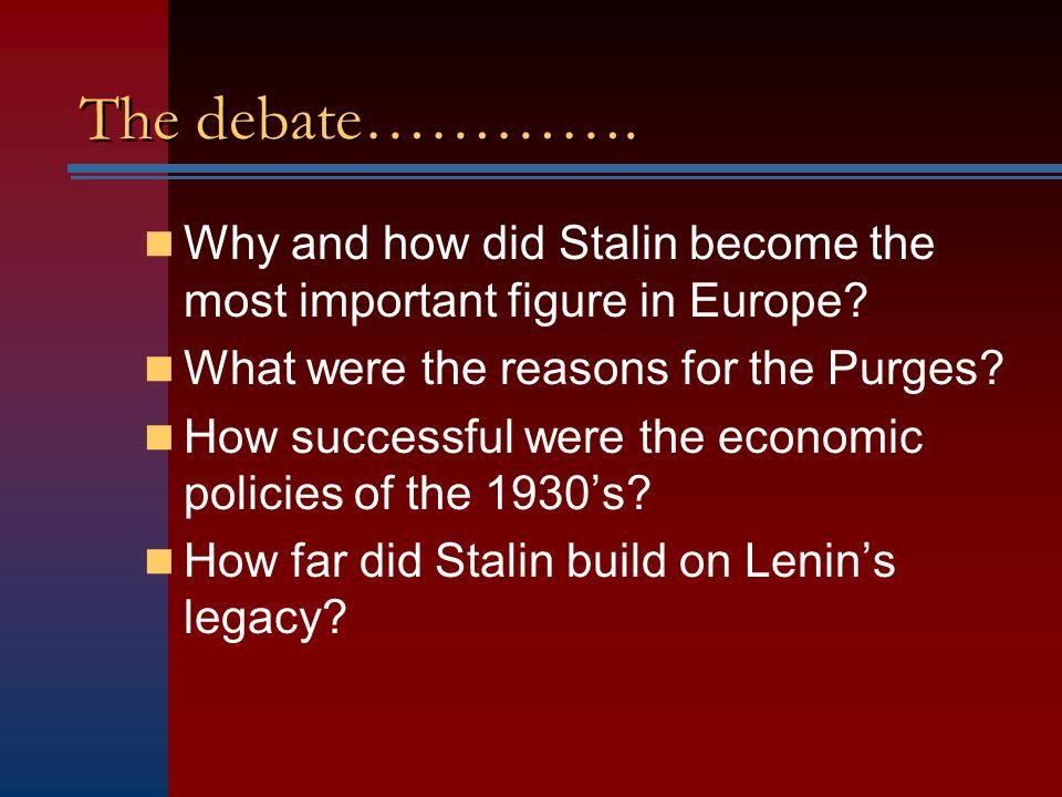 why did stalin become leader of Stalin became leader when lenin died stalin was the 'heavy' in the communist leadership sort of like what hussein was in the baathists, and castro was in the cuban revolution the strongman usually comes out on top in those power struggles.