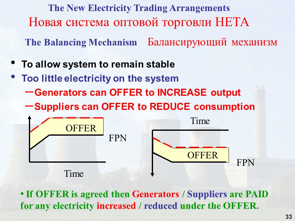 The New Electricity Trading Arrangements