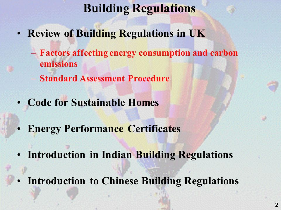 Building Regulations Review of Building Regulations in UK